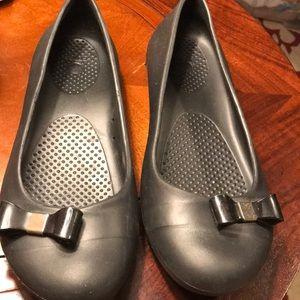 Crocs Black Gianna Ballet Flat With now Sz 8